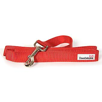 Doodlebone Bold Nylon Lead Red Small 15mm X1.3m
