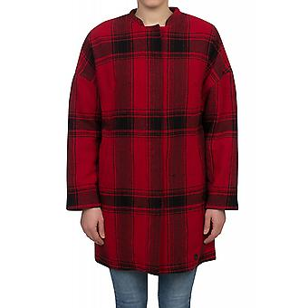 Lee Wool Cocoon Jacke Damen Winter-Jacke Rot L57NQSLK
