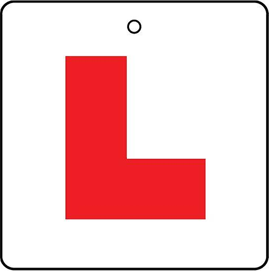 Learner L Plates Car Air Freshener