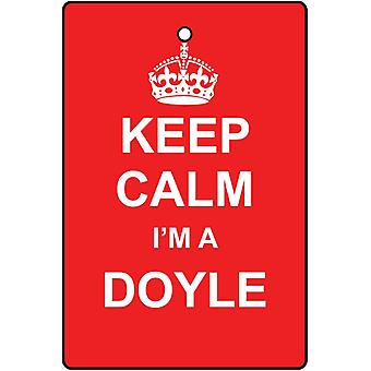 Keep Calm I'm A Doyle Car Air Freshener