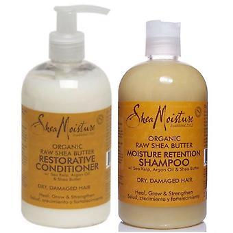 Shea fugt rå Shea smør styrkende Shampoo og Conditioner 13 ounce
