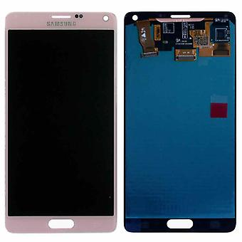 Crystal Display, LCD complete set GH97 16565D roze roze Samsung Galaxy touch 4 N910F