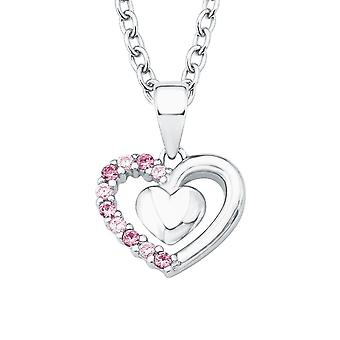 Princess Lillifee child kids necklace silver cubic zirconia heart 2017951