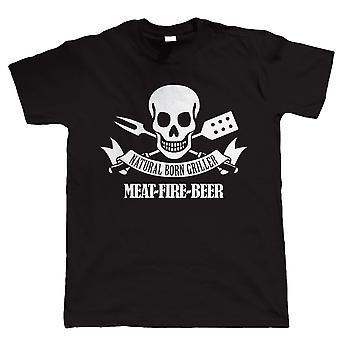 Natural Born Griller, Mens Funny BBQ T-Shirt