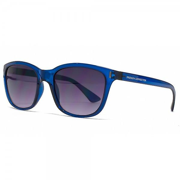French Connection Retro Style Sunglasses In Crystal Blue