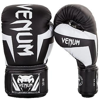 Venum Elite Boxing Gloves - Black & White