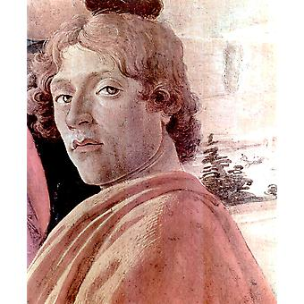 Sandro Botticelli - Self Portrait faint Poster Print Giclee