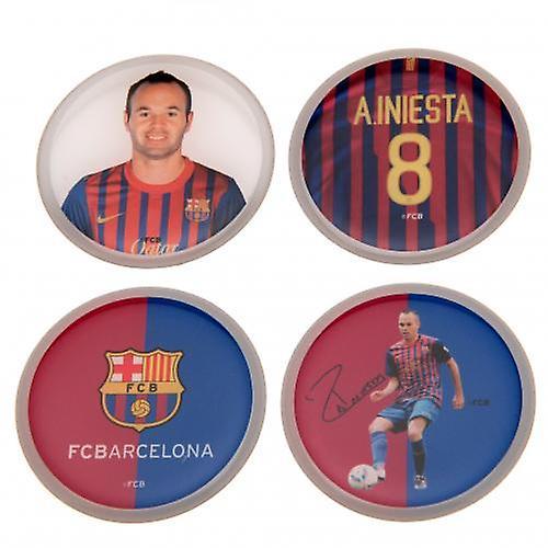 Barcelona 3D-stickers 4PK Iniesta
