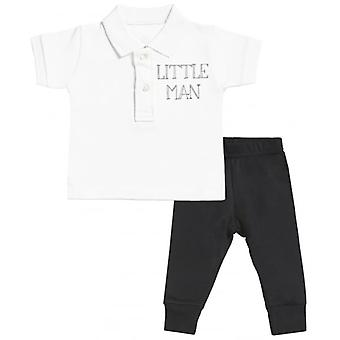 Spoilt Rotten Little Man Baby Polo T-Shirt & Baby Jersey Trousers Outfit Set