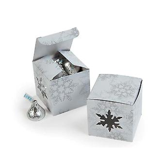 12 Die Cut Snowflake Mini Gift or Treat Boxes for Christmas