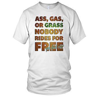 Ass Gas Or Grass Nobody Rides For Free Biker Motorcycle Motorbike Ladies T Shirt