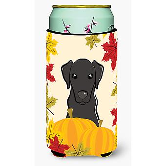 Black Labrador Thanksgiving Tall Boy beverage Insulator Hugger