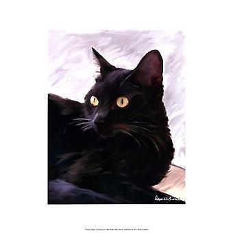 Black Cat Portrait Poster Print by Robert McClintock (13 x 19)