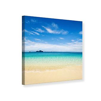 Canvas Print Blue Lagoon & Himmel