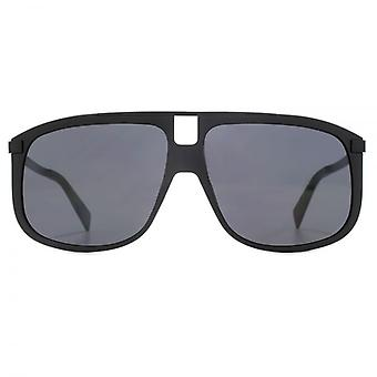 Marc Jacobs Square Visor Sunglasses In Matte Black