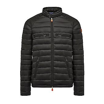 Save the duck men's D3543MGIGA301 black polyamide Quilted Jacket