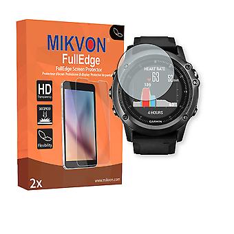 Garmin fenix 3 HR screen protector - Mikvon FullEdge (screen protector with full protection and custom fit for the curved display)