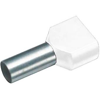 Twin ferrule 2 x 0.75 mm² x 8 mm Partially insulated White Cimco