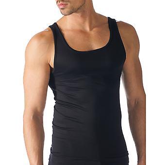 Mey 42500-123 Men's Software Black Solid Colour Tank Vest Top