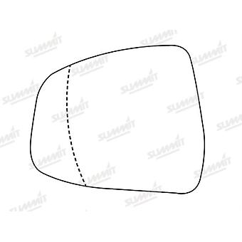 Left Stick-On Mirror Glass for FORD MONDEO IV 2007-2014