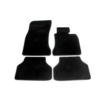 Fully Tailored Luxury Car Mats - BMW 5 Series 2003-2010 Black Automatic
