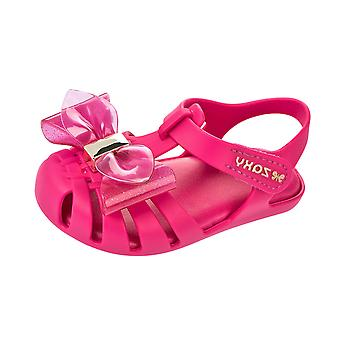 Zaxy Baby Glamour Bow Girls Toddler Sandals - Bright Pink