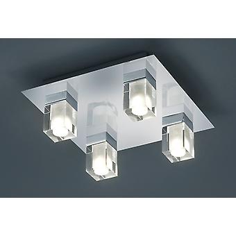 Trio Lighting Plafón Cubo 4xSmd-led 4,5w 3000k 400lm