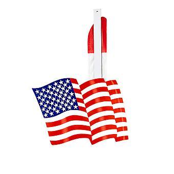 Blue USA Flag Paper Fan 50cm