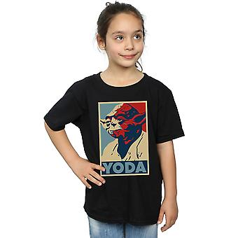 Star Wars Girls Yoda Poster T-Shirt