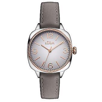 s.Oliver Damen Uhr Armbanduhr Leder SO-3136-LQ