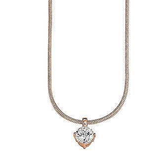 ESPRIT women's chain necklace silver cubic zirconia Rosé Grace Rose ESNL91934C420
