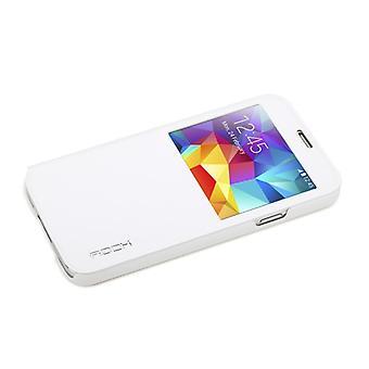 Original ROCK window smart cover white for Samsung Galaxy S5 G900 G900F