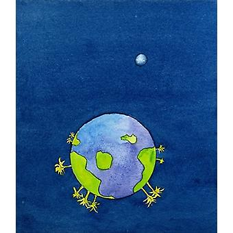 God created the earth and continues to care.. - Art Canvas