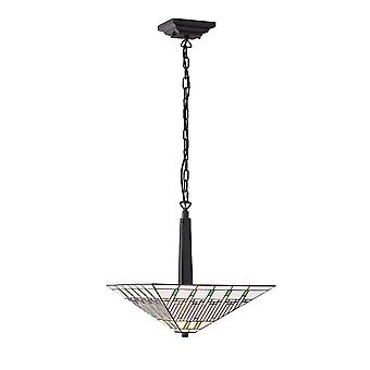 Interiors 1900 Mission 2 Light Inverted Tiffany Ceiling Pendant