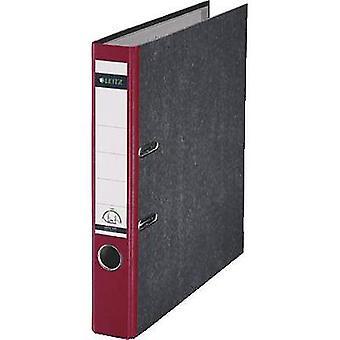Leitz Folder 1050 A4 Spine width: 52 mm Red Paste paper 2 brackets 10505025
