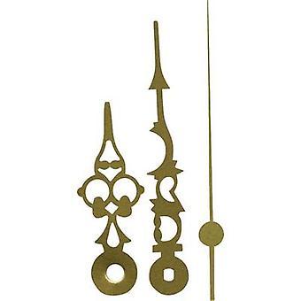 Clockhand set Polished/Antique Aluminium Brass Slot