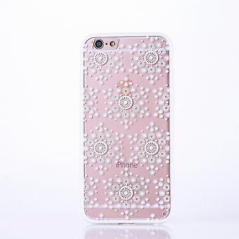 Mandala mobile caso per Apple iPhone 6 / 6s design paraurti borsa di copertura fiocchi di custodia cover motivo bianco