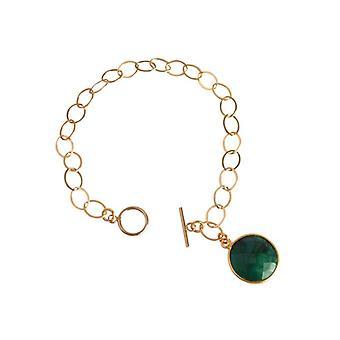 Emerald armband groen smaragd armband zilver verguld