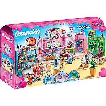 Playmobil 9078 ciudad vida compras Plaza con deportes/del animal doméstico y juguetes de tiendas de ropa
