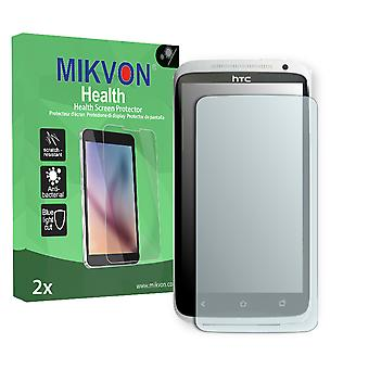 HTC One X LTE Screen Protector - Mikvon Health (Retail Package with accessories) (intentionally smaller than the display due to its curved surface)