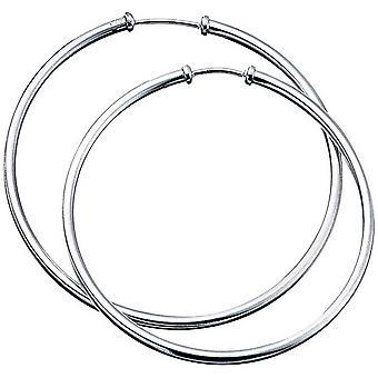 Början oformaterad Hoop Örhängen - Silver