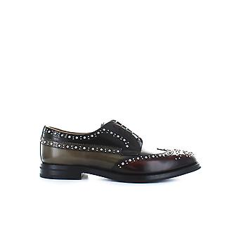 CHURCH'S THREE-COLORED POLISHED FUMÉ GRAFTON MET LACE UP