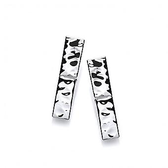 Cavendish Französisch texturiert Silberbarren Ohrringe
