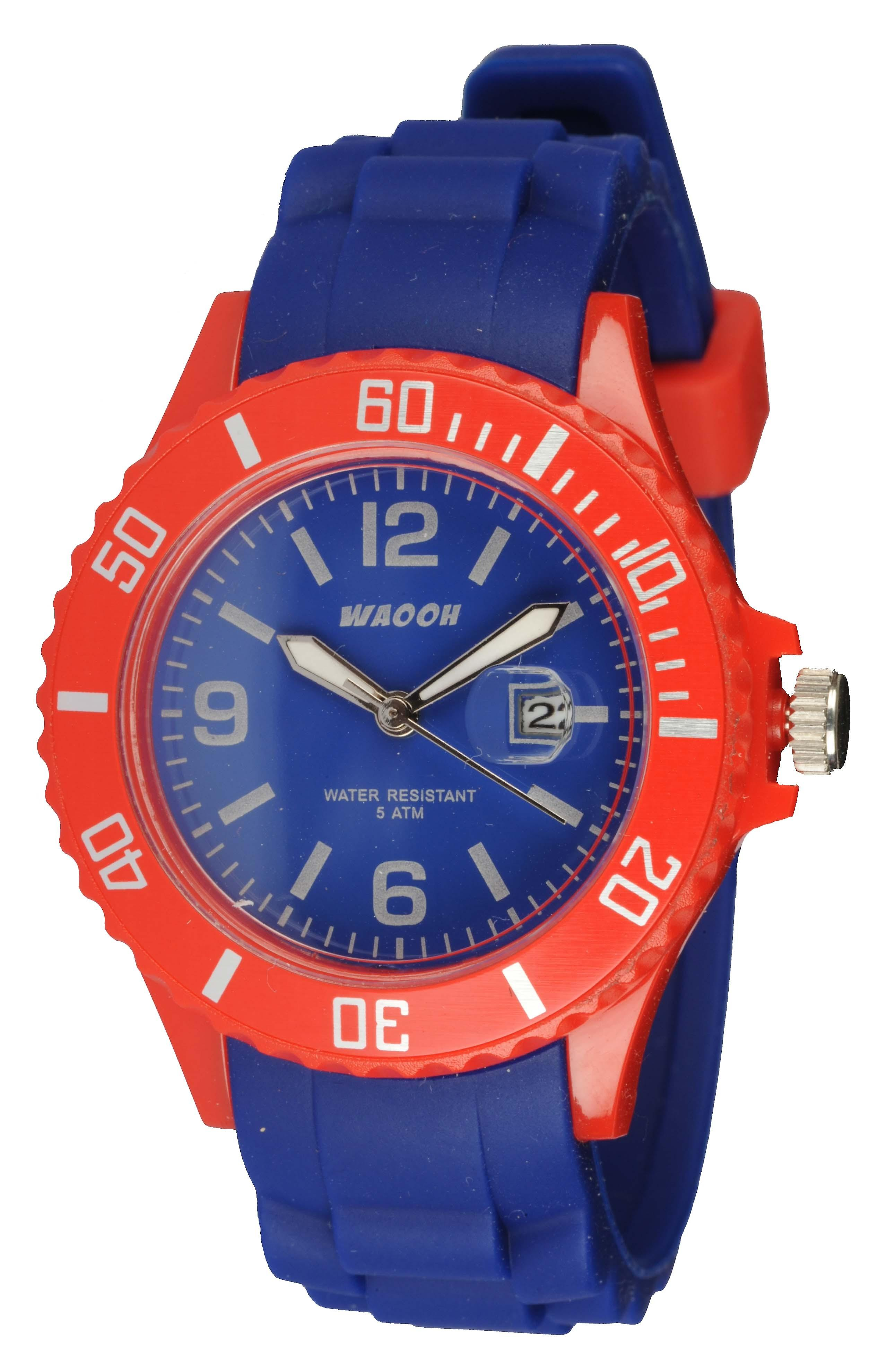 Waooh - Monaco38 Watch - Two Tone & Red