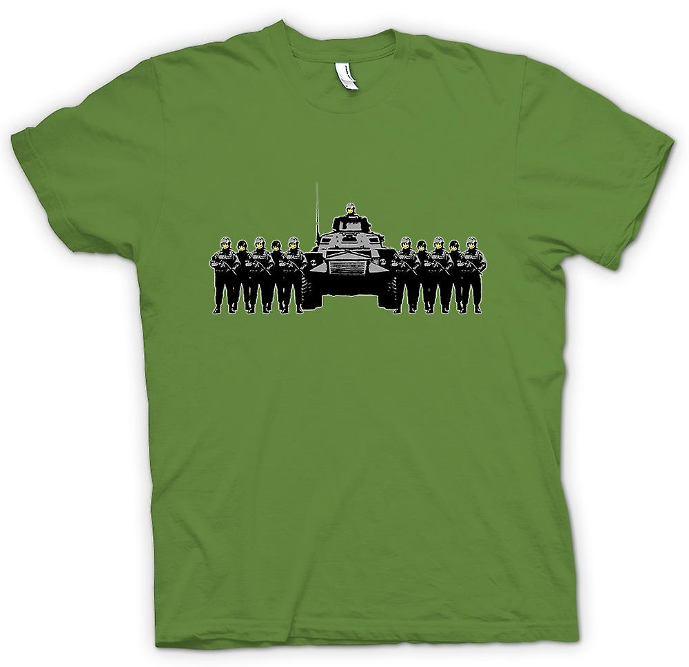 Hommes T-shirt - Banksy Graffiti - État de la police