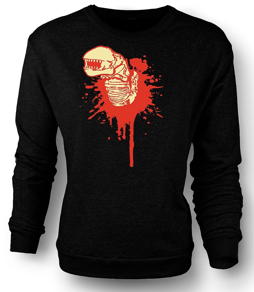 Mens Sweatshirt Alien gezicht Hugger - Horror - film