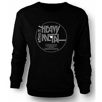 Mens Sweatshirt Heavy Metal - Vinyl Print
