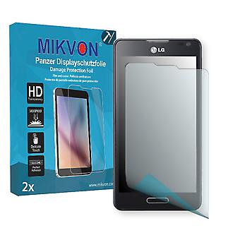 LG D500 Optimus F6 Screen Protector - Mikvon Armor Screen Protector (Retail Package with accessories)