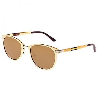 Breed Orion Aluminium Polarized Sunglasses - Gold/Brown