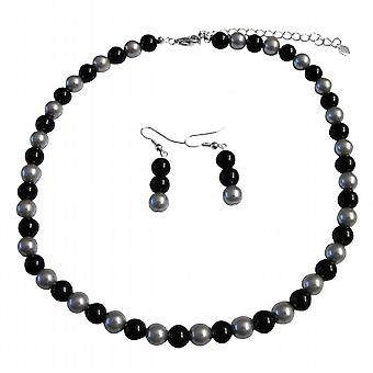 Share In The Secret Of Our Silver & Black Pearl Jewelry Set At Reasonable Under $10 Necklace Set